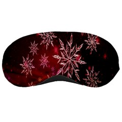 Christmas Snowflake Ice Crystal Sleeping Masks by Nexatart