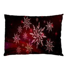 Christmas Snowflake Ice Crystal Pillow Case (two Sides) by Nexatart