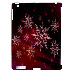 Christmas Snowflake Ice Crystal Apple Ipad 3/4 Hardshell Case (compatible With Smart Cover) by Nexatart