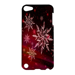 Christmas Snowflake Ice Crystal Apple Ipod Touch 5 Hardshell Case by Nexatart