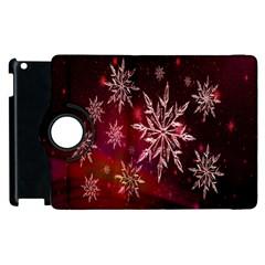 Christmas Snowflake Ice Crystal Apple Ipad 2 Flip 360 Case