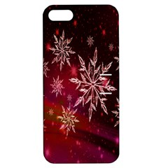 Christmas Snowflake Ice Crystal Apple Iphone 5 Hardshell Case With Stand