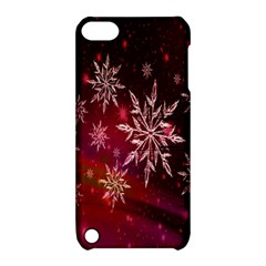 Christmas Snowflake Ice Crystal Apple Ipod Touch 5 Hardshell Case With Stand