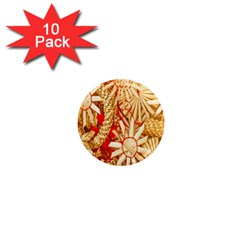 Christmas Straw Xmas Gold 1  Mini Magnet (10 Pack)