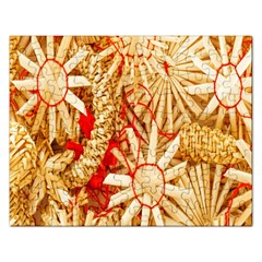 Christmas Straw Xmas Gold Rectangular Jigsaw Puzzl