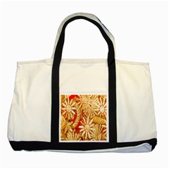 Christmas Straw Xmas Gold Two Tone Tote Bag