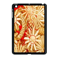 Christmas Straw Xmas Gold Apple Ipad Mini Case (black)