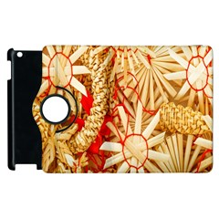 Christmas Straw Xmas Gold Apple Ipad 2 Flip 360 Case
