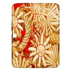 Christmas Straw Xmas Gold Samsung Galaxy Tab 3 (10 1 ) P5200 Hardshell Case