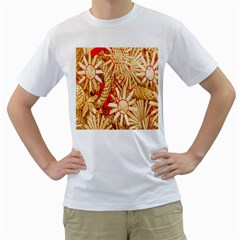 Christmas Straw Xmas Gold Men s T Shirt (white)