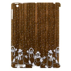 Christmas Snowmen Rustic Snow Apple Ipad 3/4 Hardshell Case (compatible With Smart Cover) by Nexatart
