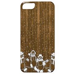 Christmas Snowmen Rustic Snow Apple Iphone 5 Classic Hardshell Case