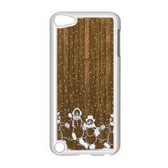 Christmas Snowmen Rustic Snow Apple Ipod Touch 5 Case (white)