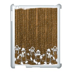 Christmas Snowmen Rustic Snow Apple Ipad 3/4 Case (white)