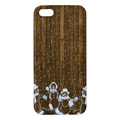 Christmas Snowmen Rustic Snow Apple Iphone 5 Premium Hardshell Case by Nexatart