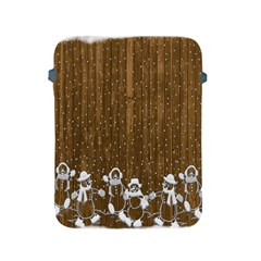 Christmas Snowmen Rustic Snow Apple Ipad 2/3/4 Protective Soft Cases
