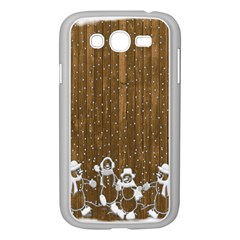 Christmas Snowmen Rustic Snow Samsung Galaxy Grand Duos I9082 Case (white) by Nexatart