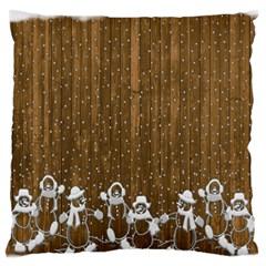 Christmas Snowmen Rustic Snow Standard Flano Cushion Case (two Sides)