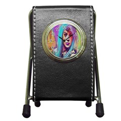Drag On Go Pen Holder Desk Clocks by MRTACPANS