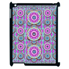 Magic Flowers From  The Paradise Of Lotus Apple Ipad 2 Case (black) by pepitasart