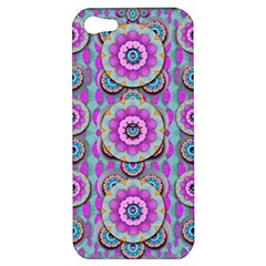 Magic Flowers From  The Paradise Of Lotus Apple Iphone 5 Hardshell Case by pepitasart