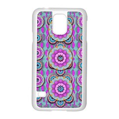 Magic Flowers From  The Paradise Of Lotus Samsung Galaxy S5 Case (white) by pepitasart