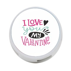 I Love You My Valentine (white) Our Two Hearts Pattern (white) 4 Port Usb Hub (two Sides)  by FashionFling