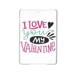 I Love You My Valentine (white) Our Two Hearts Pattern (white) Ipad Mini 2 Hardshell Cases by FashionFling