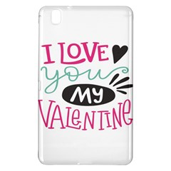 I Love You My Valentine (white) Our Two Hearts Pattern (white) Samsung Galaxy Tab Pro 8.4 Hardshell Case by FashionFling