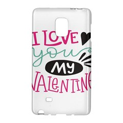 I Love You My Valentine (white) Our Two Hearts Pattern (white) Galaxy Note Edge by FashionFling