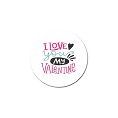 I Love You My Valentine (white) Our Two Hearts Pattern (white) Golf Ball Marker (4 Pack) by FashionFling