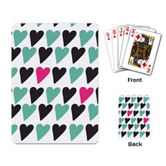 I Love You My Valentine (white) Our Two Hearts Pattern (white) Playing Card by FashionFling