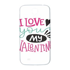 I Love You My Valentine (white) Our Two Hearts Pattern (white) Samsung Galaxy S4 I9500/i9505  Hardshell Back Case by FashionFling