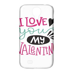 I Love You My Valentine (white) Our Two Hearts Pattern (white) Samsung Galaxy S4 Classic Hardshell Case (pc+silicone) by FashionFling