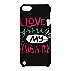 I Love You My Valentine / Our Two Hearts Pattern (black) Apple Ipod Touch 5 Hardshell Case With Stand by FashionFling