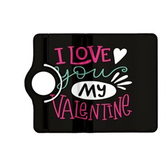 I Love You My Valentine / Our Two Hearts Pattern (black) Kindle Fire Hd (2013) Flip 360 Case by FashionFling