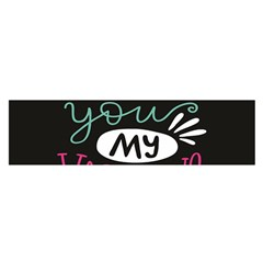 I Love You My Valentine / Our Two Hearts Pattern (black) Satin Scarf (oblong) by FashionFling