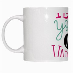 I Love You My Valentine / Our Two Hearts Pattern (white) White Mugs by FashionFling