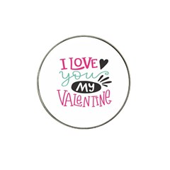 I Love You My Valentine / Our Two Hearts Pattern (white) Hat Clip Ball Marker by FashionFling