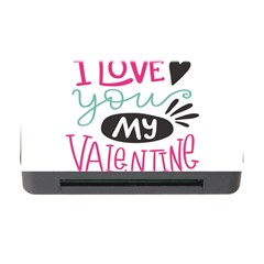 I Love You My Valentine / Our Two Hearts Pattern (white) Memory Card Reader With Cf by FashionFling