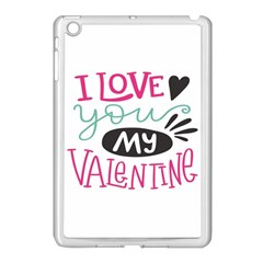 I Love You My Valentine / Our Two Hearts Pattern (white) Apple Ipad Mini Case (white) by FashionFling