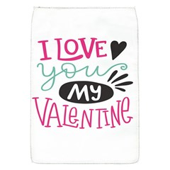 I Love You My Valentine / Our Two Hearts Pattern (white) Flap Covers (s)  by FashionFling