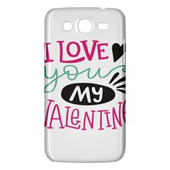 I Love You My Valentine / Our Two Hearts Pattern (white) Samsung Galaxy Mega 5 8 I9152 Hardshell Case  by FashionFling