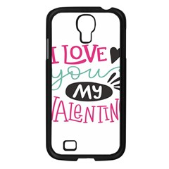 I Love You My Valentine / Our Two Hearts Pattern (white) Samsung Galaxy S4 I9500/ I9505 Case (black) by FashionFling