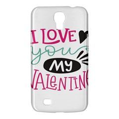I Love You My Valentine / Our Two Hearts Pattern (white) Samsung Galaxy Mega 6 3  I9200 Hardshell Case by FashionFling