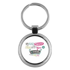 My Every Moment Spent With You Is Diamond To Me / Diamonds Hearts Lips Pattern (white) Key Chains (round)  by FashionFling