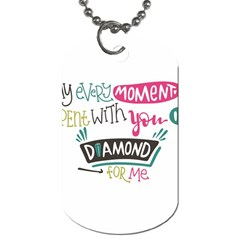 My Every Moment Spent With You Is Diamond To Me / Diamonds Hearts Lips Pattern (white) Dog Tag (two Sides) by FashionFling