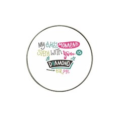 My Every Moment Spent With You Is Diamond To Me / Diamonds Hearts Lips Pattern (white) Hat Clip Ball Marker by FashionFling