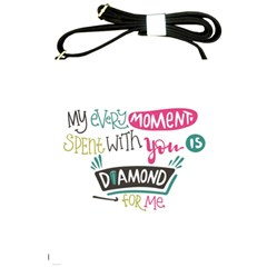 My Every Moment Spent With You Is Diamond To Me / Diamonds Hearts Lips Pattern (white) Shoulder Sling Bags by FashionFling