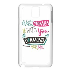 My Every Moment Spent With You Is Diamond To Me / Diamonds Hearts Lips Pattern (white) Samsung Galaxy Note 3 N9005 Case (White) by FashionFling